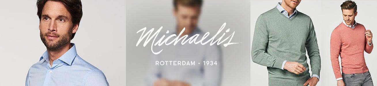 Italiaans design, eigentijdse slim-fit pasvorm en luxe stoffen. Ontdek de overhemden van Michaelis.