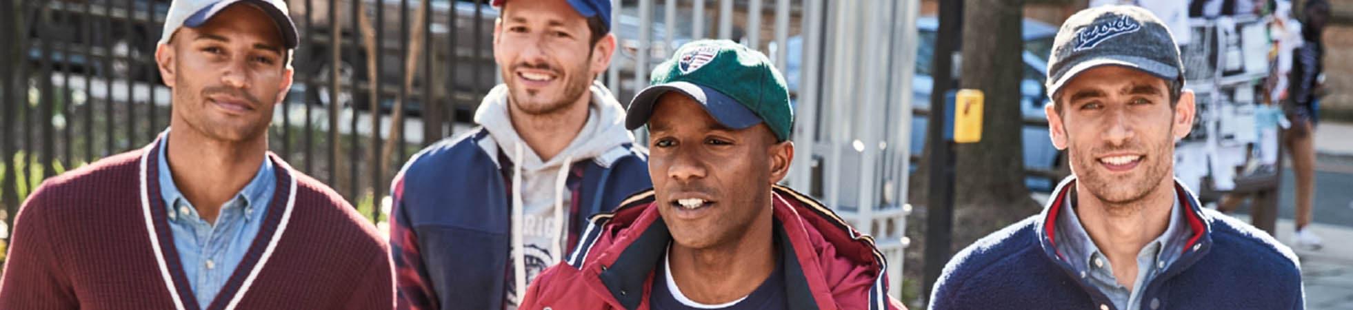 Men\'s caps & hats at Suitable ✔ Different colours and fits ✔ Brands like Levi\'s, Superdry, Tommy Hilfiger, Barbour, Napapijri and more ✔ Shop onlines