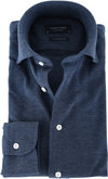 Profuomo Shirt Knitted Slim Fit Indigo Blue
