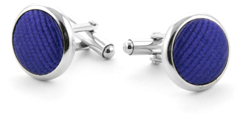 Manschettenknöpfe Seide Blau Lila F55