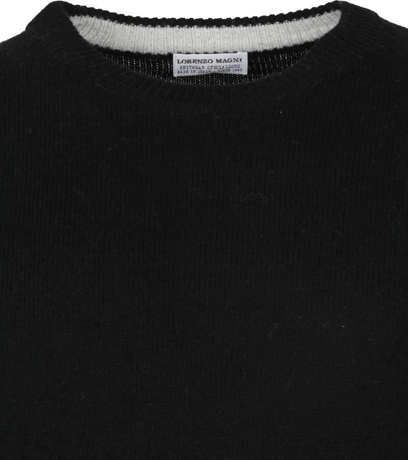 Suitable Fine Lambswool 7 gauge Pullover O-Neck Black