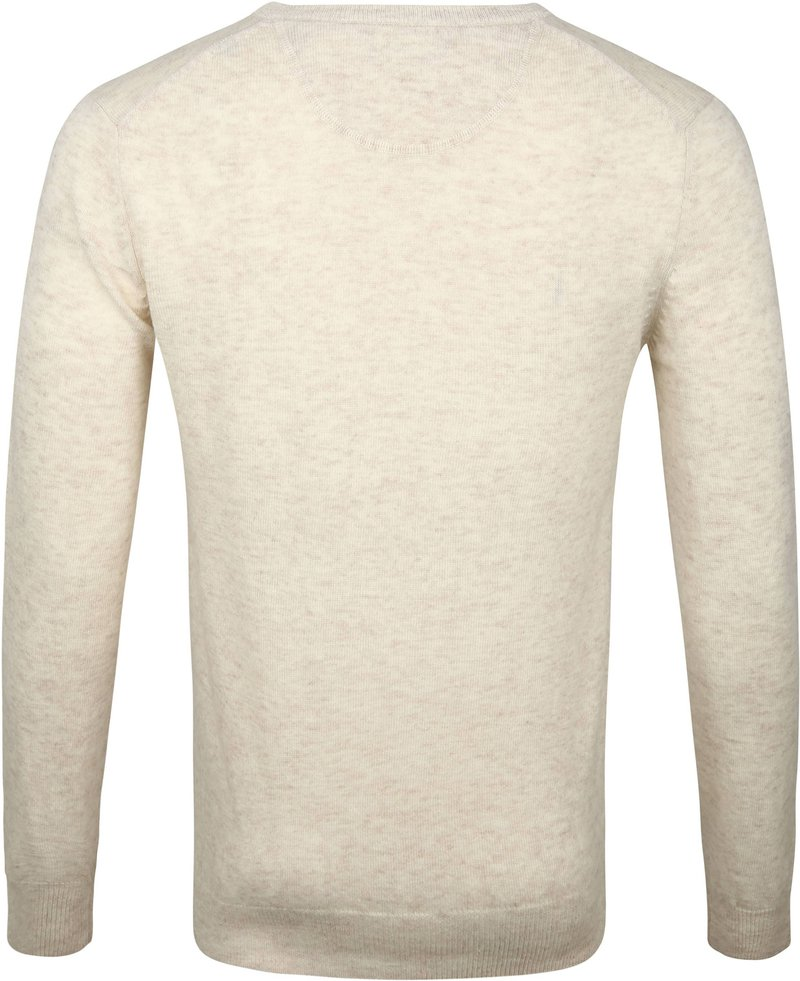 Suitable Lambswool Pullover V-Neck Beige