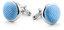 Manschettenknöpfe Seide Blau F02